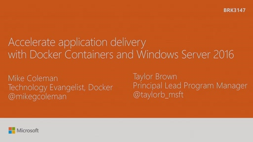 Accelerate application delivery with Docker Containers and Windows Server 2016