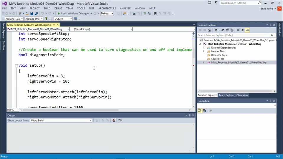 Programming Robotic Systems with Visual Studio: (01