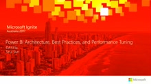 Power BI Architecture Best practices and Performance Tuning