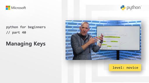 Python for Beginners [40 of 44] Managing keys
