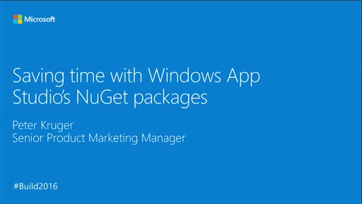 Saving Development Time with Windows App Studio's Windows 10 UWP NuGet Packages