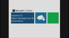 Session 4.2 – Fabric Management & Automation for Multi-Tenant Clouds