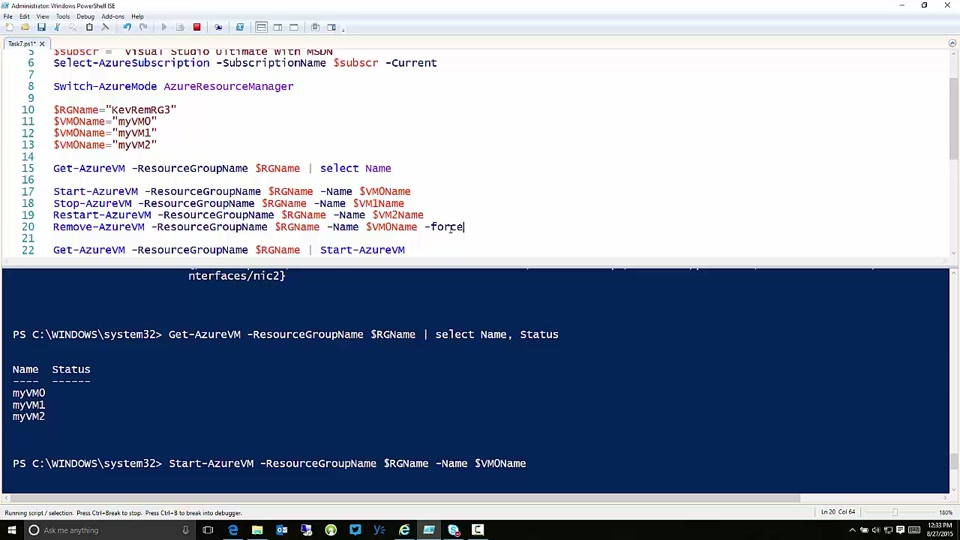 Start, Stop, Restart, and Delete VMs in Microsoft Azure with PowerShell