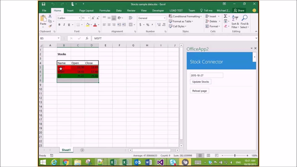 End-to-End Walkthrough of Excel JavaScript Add-in Development