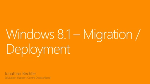 Windows 8.1 Migration Deployment