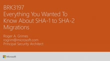 Find out everything you wanted to know about SHA-1 to SHA-2 migrations