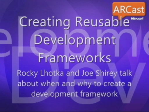 ARCast.TV - Rocky Lhotka on Development Frameworks