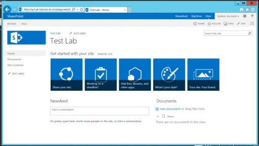 Teil 5 - Einrichten eines SharePoint Servers in Windows Azure