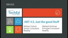 .NET 4.5: Just the Good Stuff