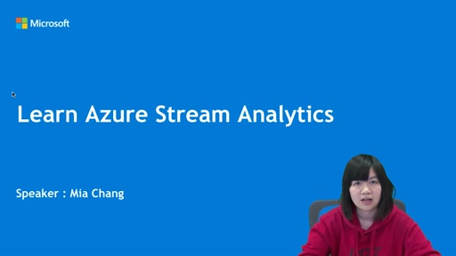 Learn Azure Stream Analytics  串流分析使用