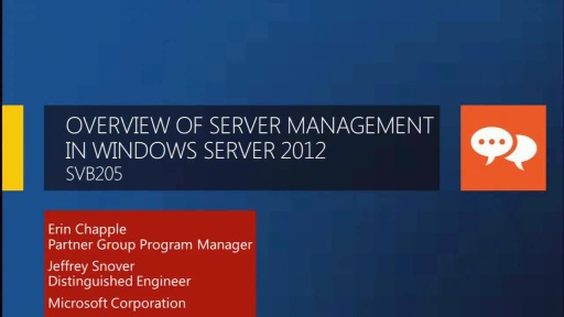"Overview of Server Management Technologies in Windows Server ""8"""