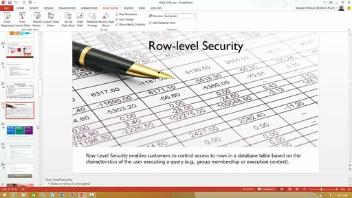 SQL 2016 Row Level Security