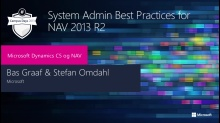 Best practices for managing NAV 2013 R2
