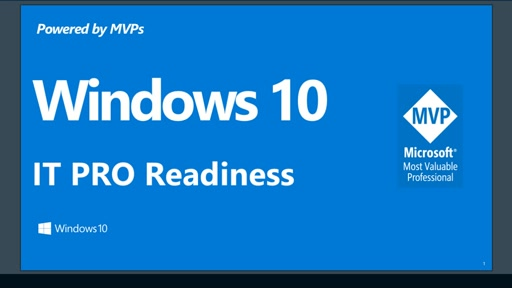 Windows 10 IT Pro Readiness [Taiwan]