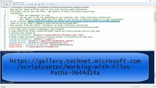 Working with Files and Paths Using PowerShell