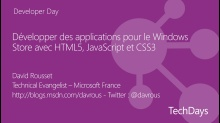 Développer des applications pour le Windows Store avec HTML5, JavaScript
