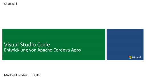 06 | Cordova Apps mit Visual Studio Code