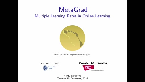 MetaGrad: Multiple Learning Rates in Online Learning
