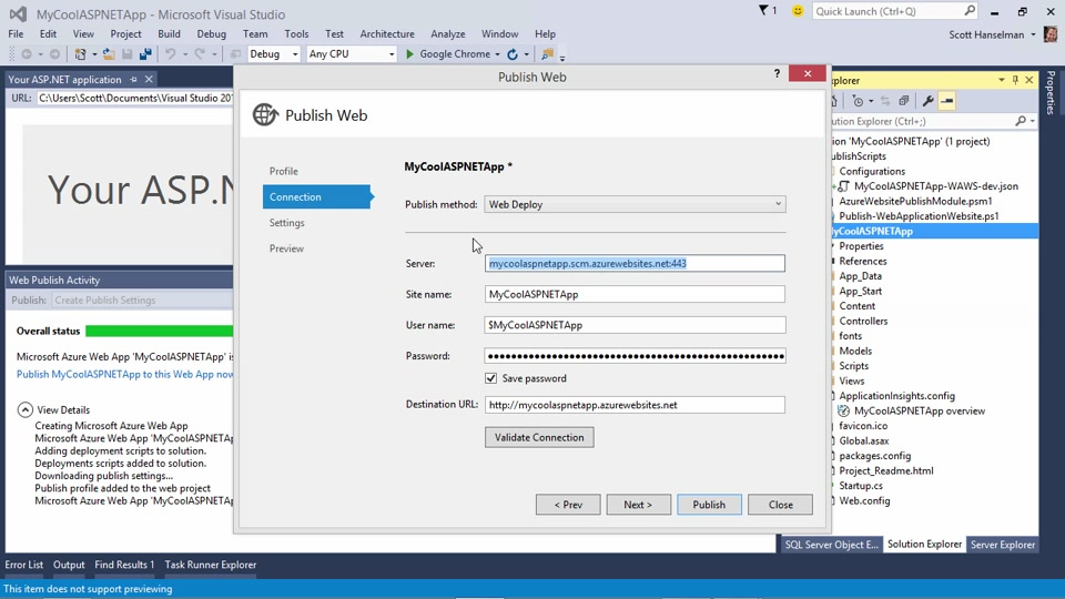 Create an ASP.NET Website using Visual Studio