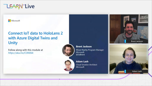 Learn Live @ Build - Connect IoT data to HoloLens 2 with Azure Digital Twins and Unity
