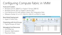 TechNet Radio: (Part 6) Building a Private Cloud with System Center 2012 Service Pack 1 – Configuring Compute Fabric in Virtual Machine Manager