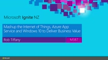 Mashup the Internet of Things, Azure App Service and Windows 10 to Deliver Business Value