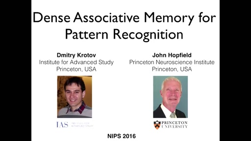 Dense Associative Memory for Pattern Recognition