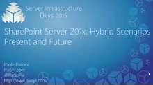 SharePoint Server 201x: Hybrid Scenarios Present and Future - CP04