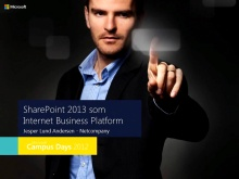 SharePoint 2013 som Internet Business Platform