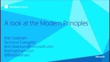 A Look at the Modern Principles