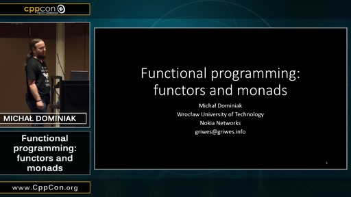 Functional programming: functors and monads
