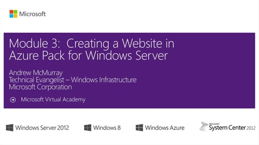 (03) 於 Azure Pack for Windows Server 上架設網站