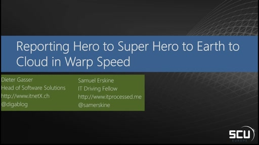 System Center Reporting Hero to Super Hero to Earth to Cloud in Warp Speed