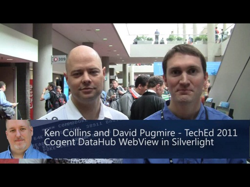 Pete at Tech Ed 2011: Cogent DataHub WebView in Silverlight