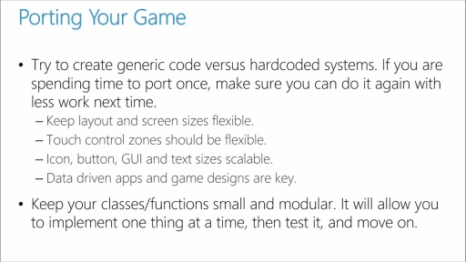 Porting Unity Games to Windows 8.1 and Windows Phone: (02) Things to Consider When Porting