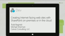 Creating Internet facing web sites with SharePoint on-premises or in the cloud