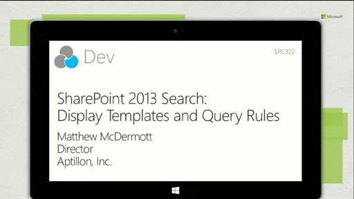 SharePoint 2013 Search display templates and query rules