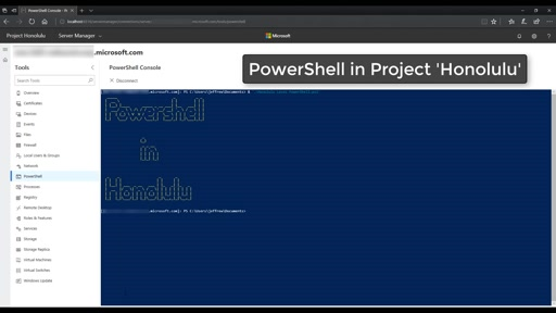 "PowerShell in Project ""Honolulu"""