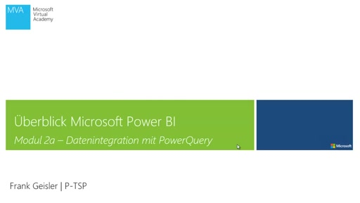 Datenintegration mit PowerQuery