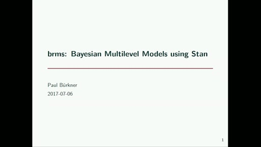 brms: Bayesian Multilevel Models using Stan