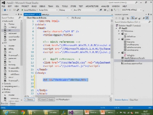 Building Metro Style Apps with JavaScript and HTML5 - Part 1