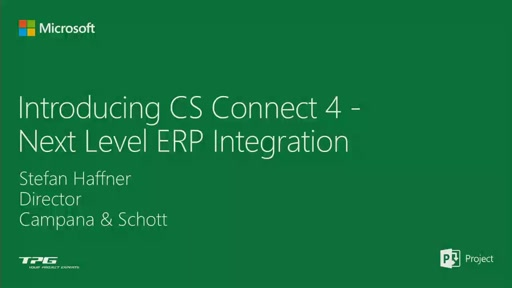 Introducing CS Connect 4 - Next Level ERP Integration for PPM