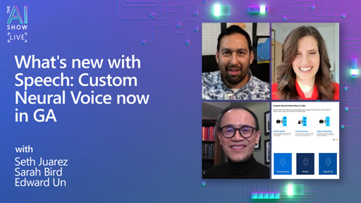 What's new with Speech: Custom Neural Voice now in GA