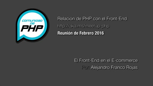 El Front-End en el E-commerce