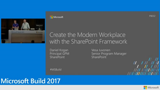 Create the modern workplace with the SharePoint Framework