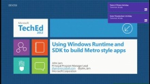 Using Windows Runtime and SDK to build Metro style apps (Repeat Session)