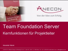 Project Management–Keep Control - Session 2 - TFS-Kernfunktionen für Projektmanager