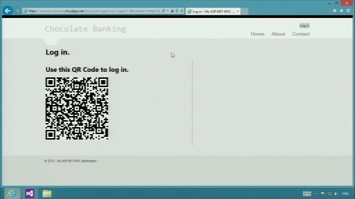 Benjamin Soulier Logs Into a Web Site Using a Bar Code and Windows Phone