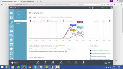 Containers rodando em Windows Server 2016 no Azure