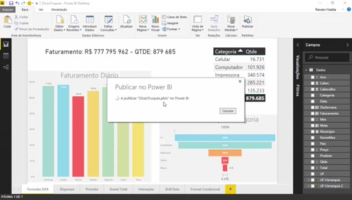 Publicar relatórios do Power BI Desktop no Power BI Services